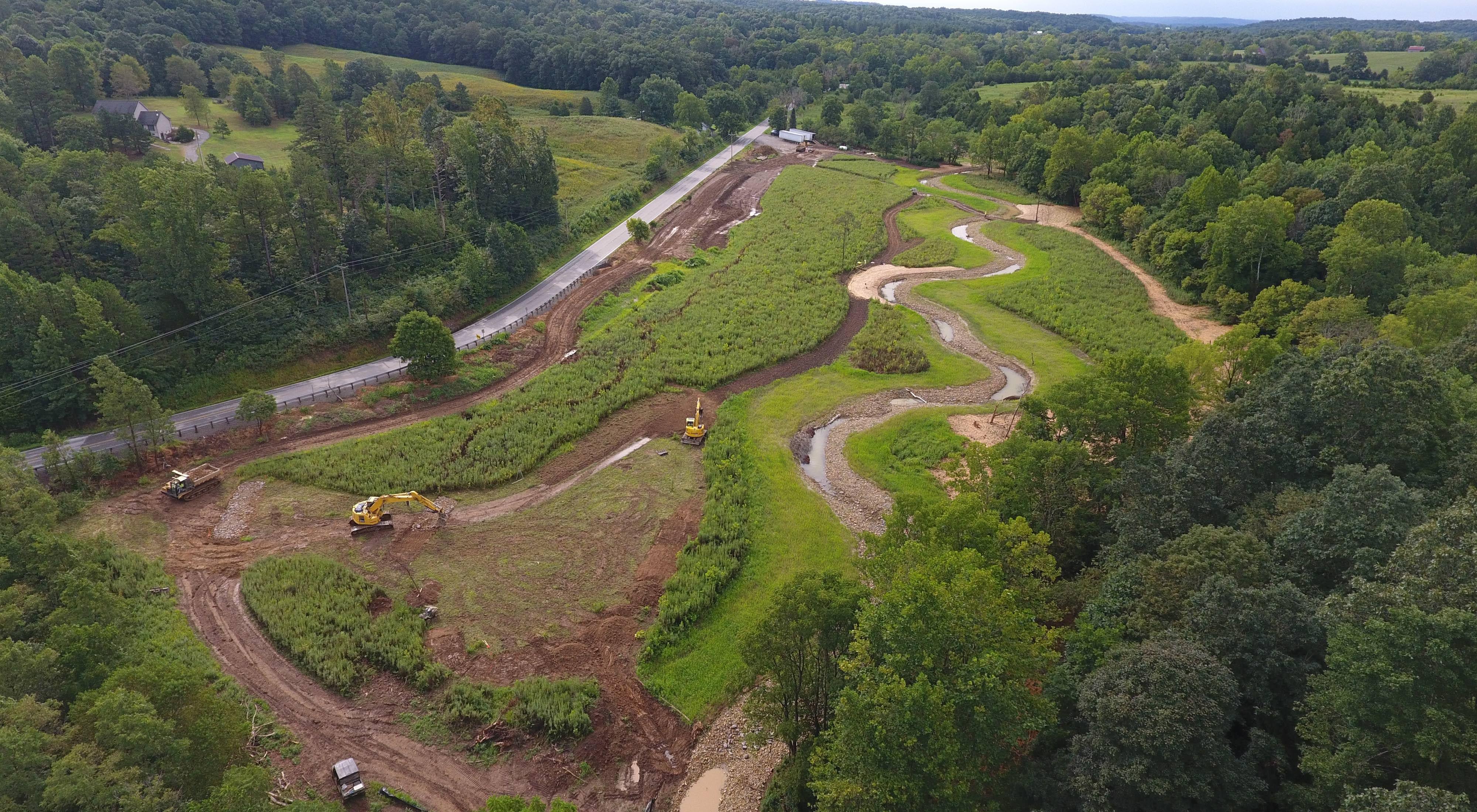 Strait Creek project under construction