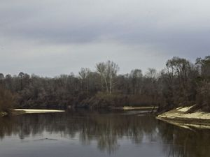The Leaf and Chickasaway Rivers converge to create the Pascaoula River in Mississippi on the East Gulf Coastal Plain.