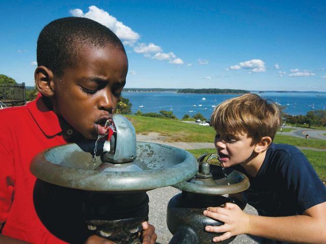 Sebago lake provides drinking water for one in six Mainers.