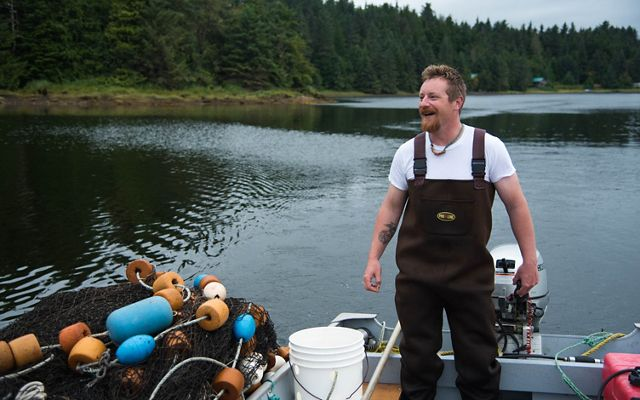 Quinn Aboudara of the Klawock Cooperative Association is a key player in local wild salmon research efforts.