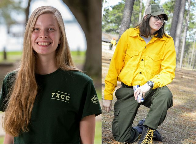 Sarah Vande Brake (left) and Courtney Gullo (right) are GulfCorps alumni who worked to protect critical conservation lands in the Gulf of Mexico region.