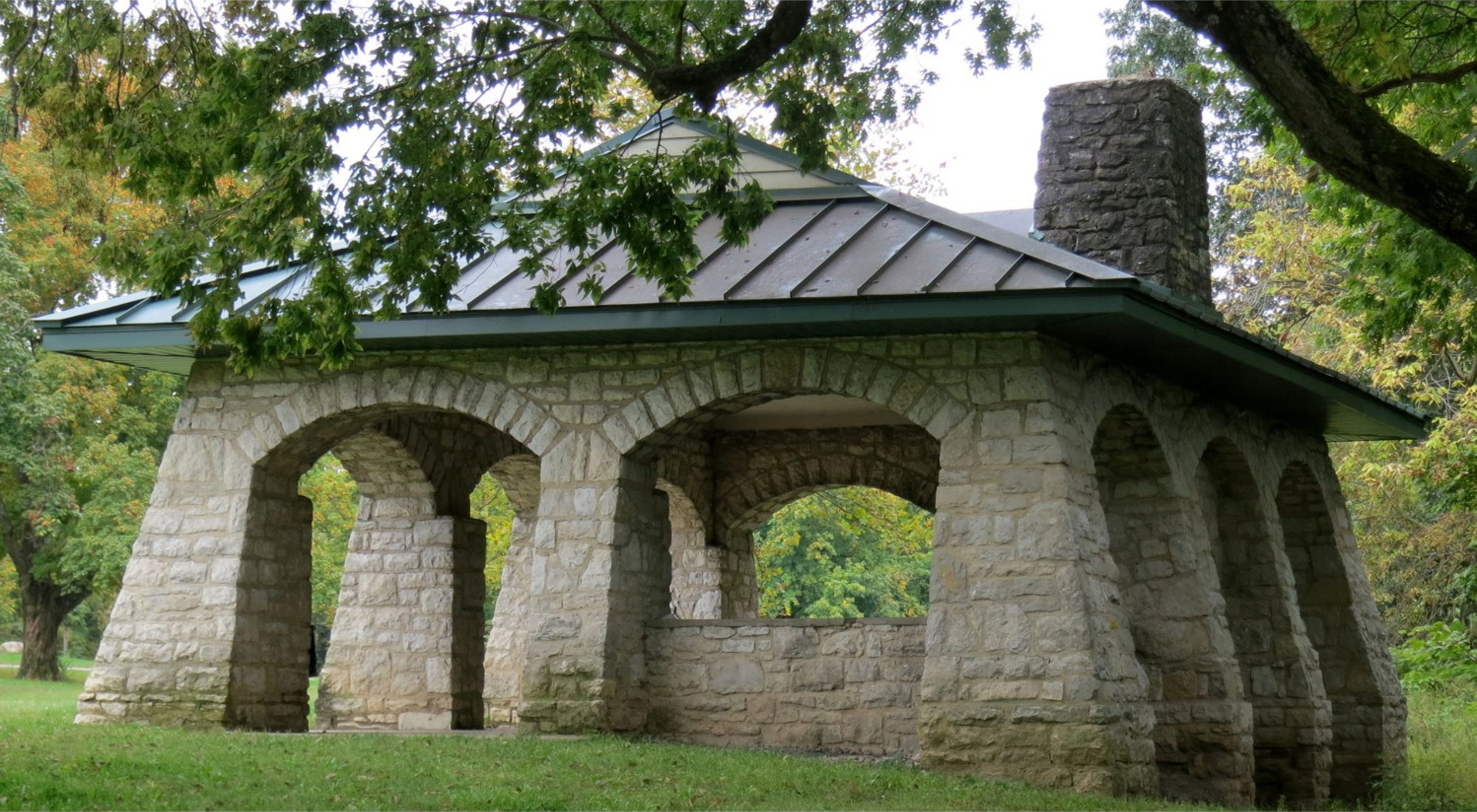 built of Columbus Limestone at Griggs Park on the Scioto river.