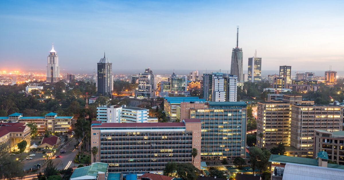 Modern Nairobi cityscape—capital city of Kenya, East Africa