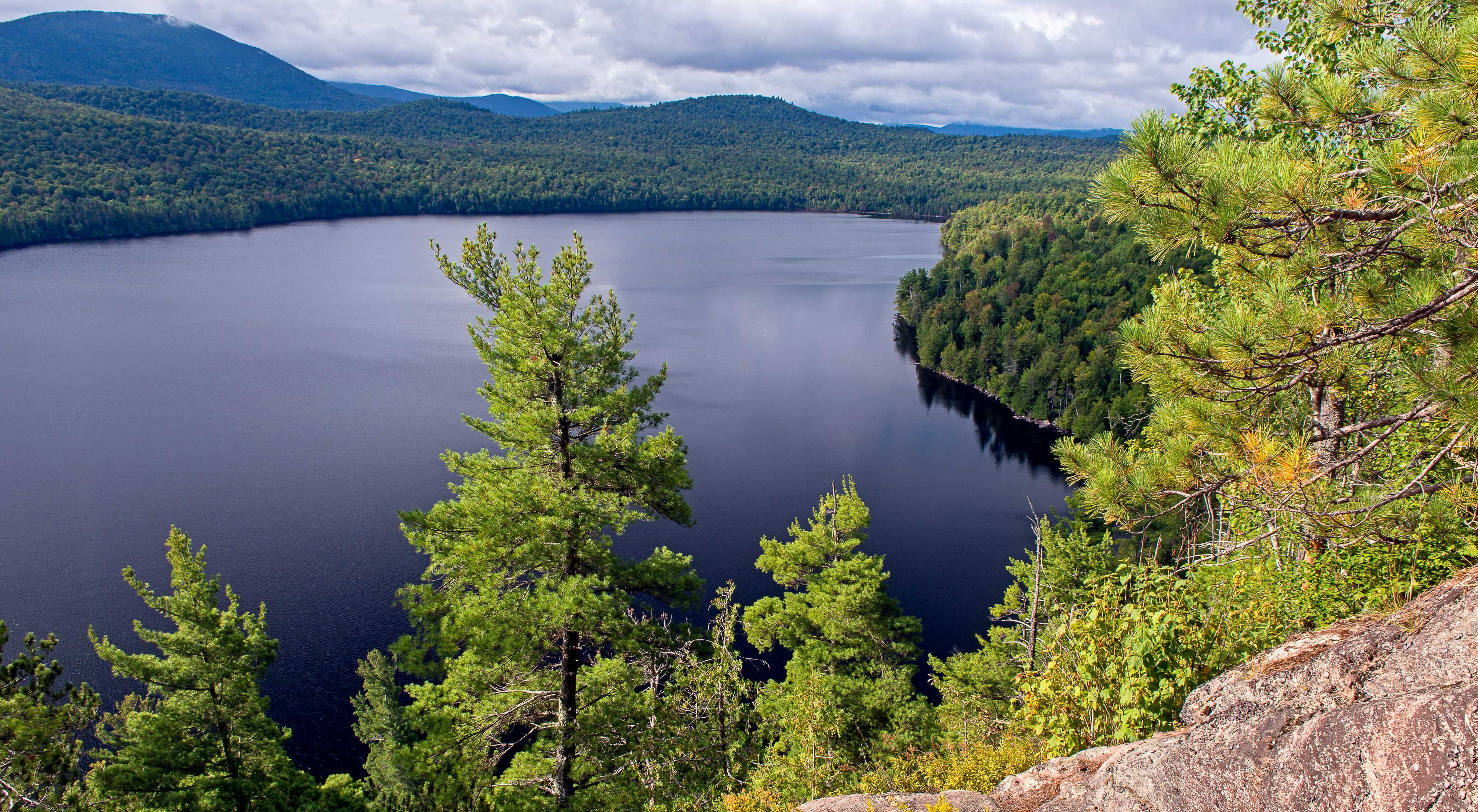 View from the bluffs of our Silver Lake Bog Preserve