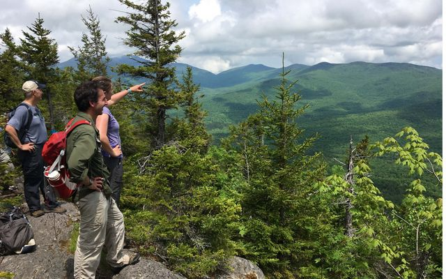 Vermont staff hike to the top of Burnt Mountain in the Northeast Kingdom.