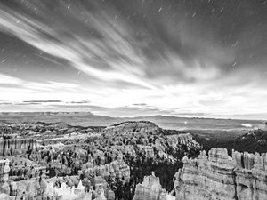 Moon rise over Bryce Canyon National Park.