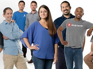 A montage of six tech entrepreneurs who participated in the Techstars program.