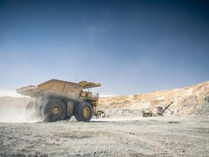 used to haul earth and ore out of Oyu Tolgoi Mine's pit in the Gobi Desert Region of South Central Mongolia.