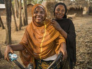 Bakari Itembe smiles on the beach