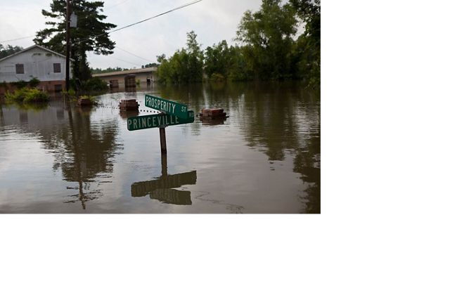 Photo of a flooded street