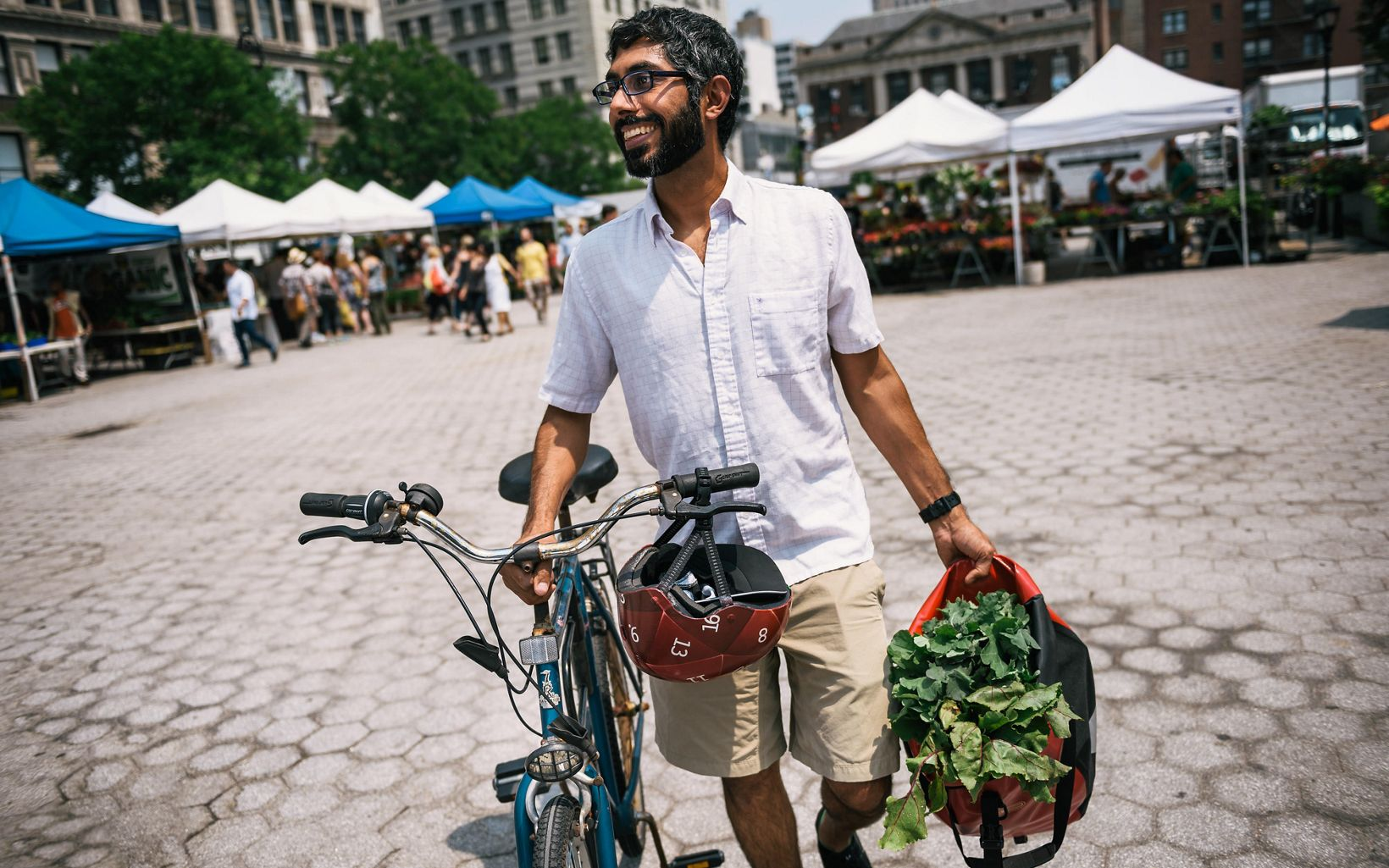 Akshay Arora at Union Square Farmers Market.