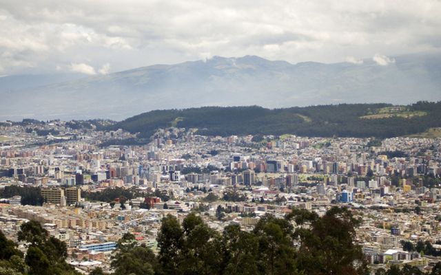 Arial view of the city of Ecuador