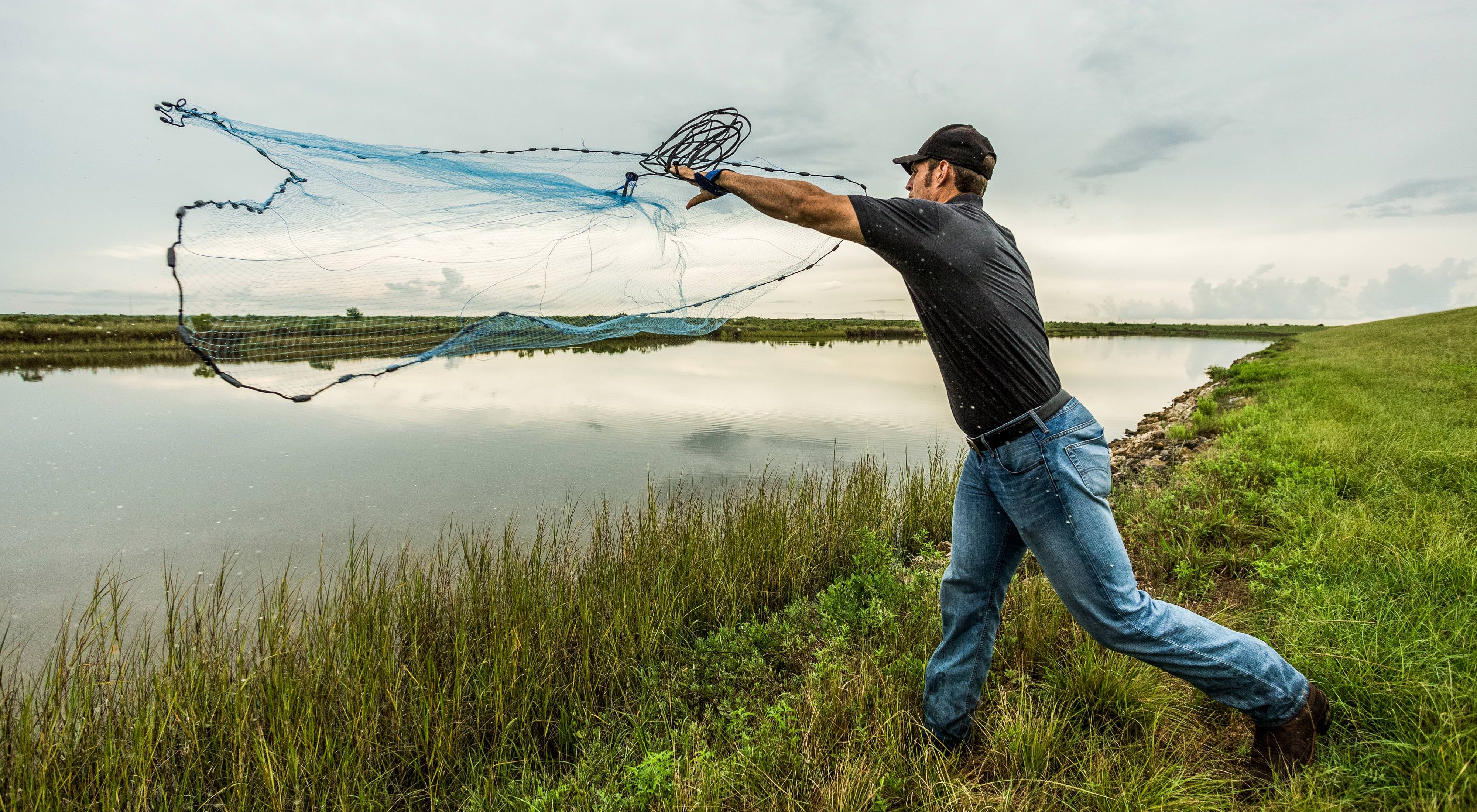 Casting a net at TNC's Texas City Prairie Preserve is 2,303 acres of coastal prairie that is vital to the natural resilience of the Gulf Coast.