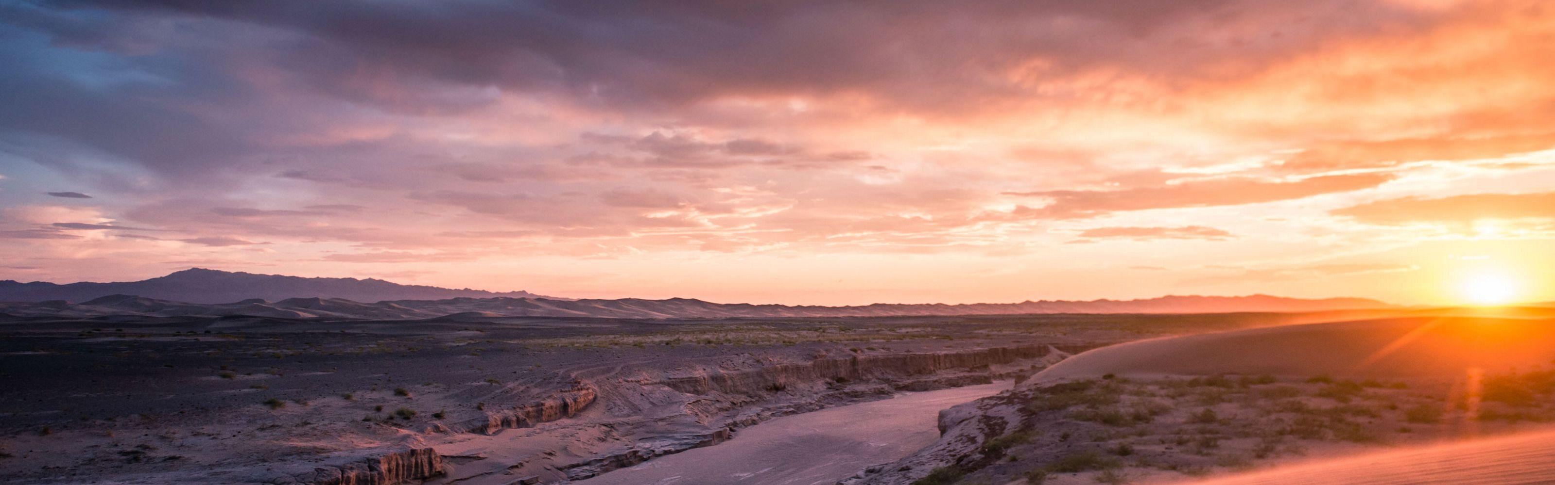 in the Khongor Sand Dunes of the Gobi Desert region of South Central Mongolia.