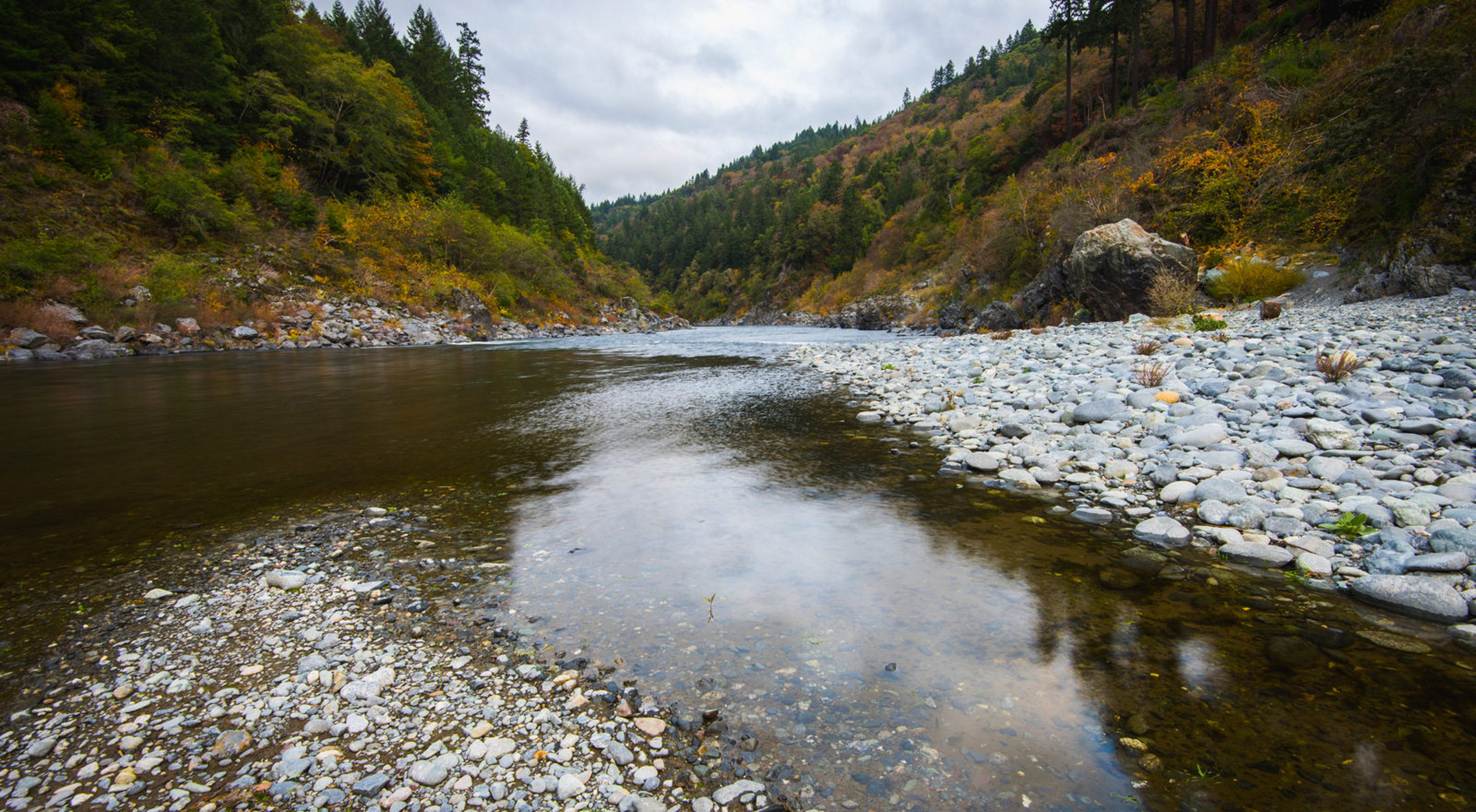 The upper Klamath River in northern California.