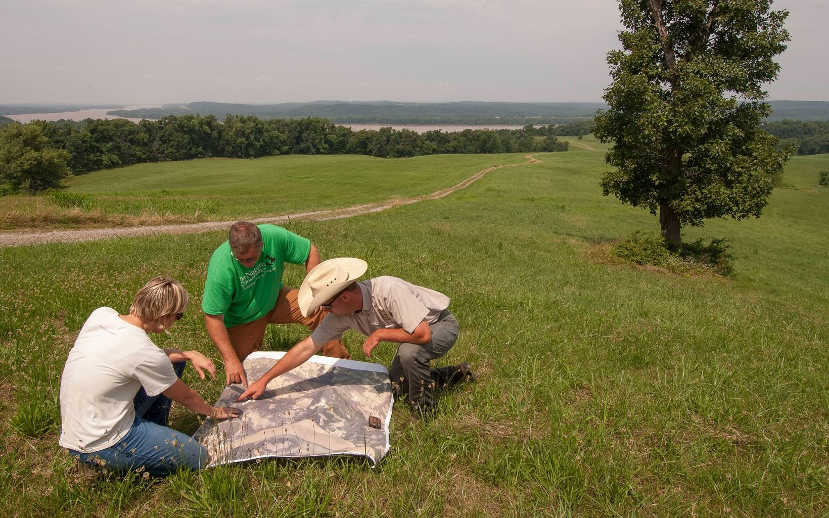 Maps guide discussion and decision making at Kentucky's Big River Corridor project.