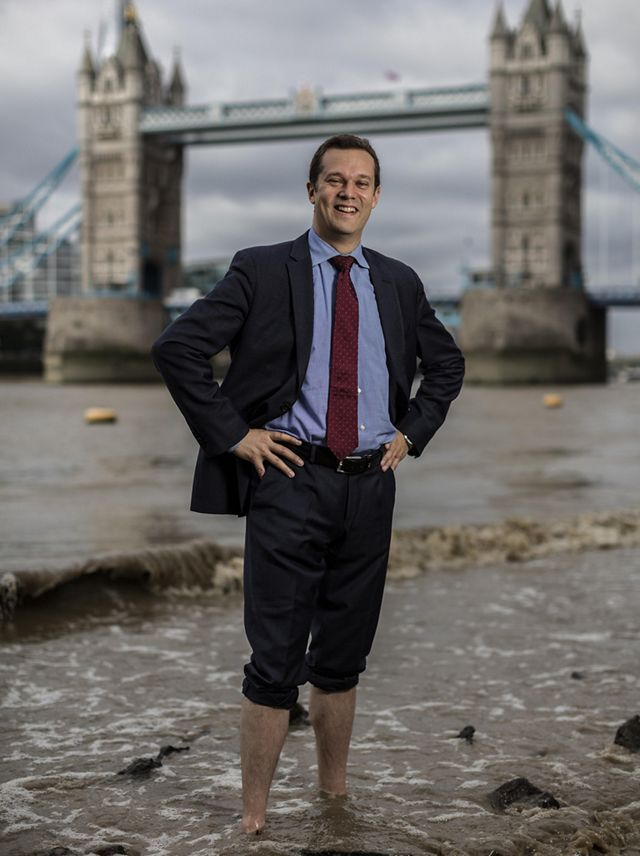 Dr Giulio Boccaletti, the Conservancy's Chief Strategy Officer and Global Managing Director of Water photographed in London in the River Thames.
