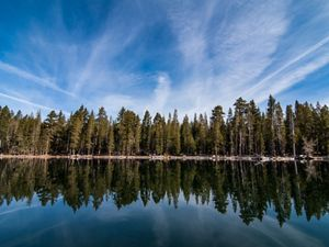 The Independence Lake Preserve in Truckee, California is one of five preserves managed by the Nevada chapter of The Nature Conservancy.