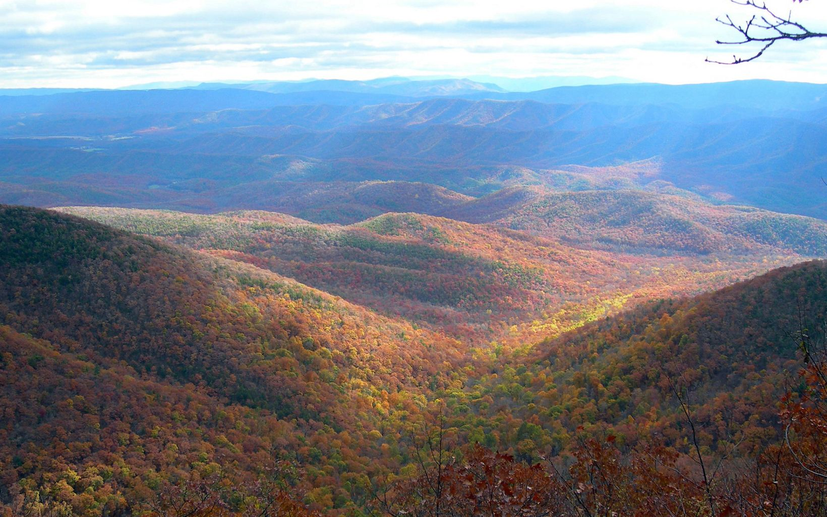 Bear Loop overlook at Warm Springs Mountain, Virginia.
