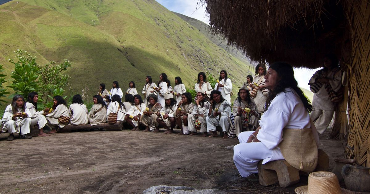 The indigenous Kogi people live in isolation within Colombia's Sierra Nevada de Santa Marta.