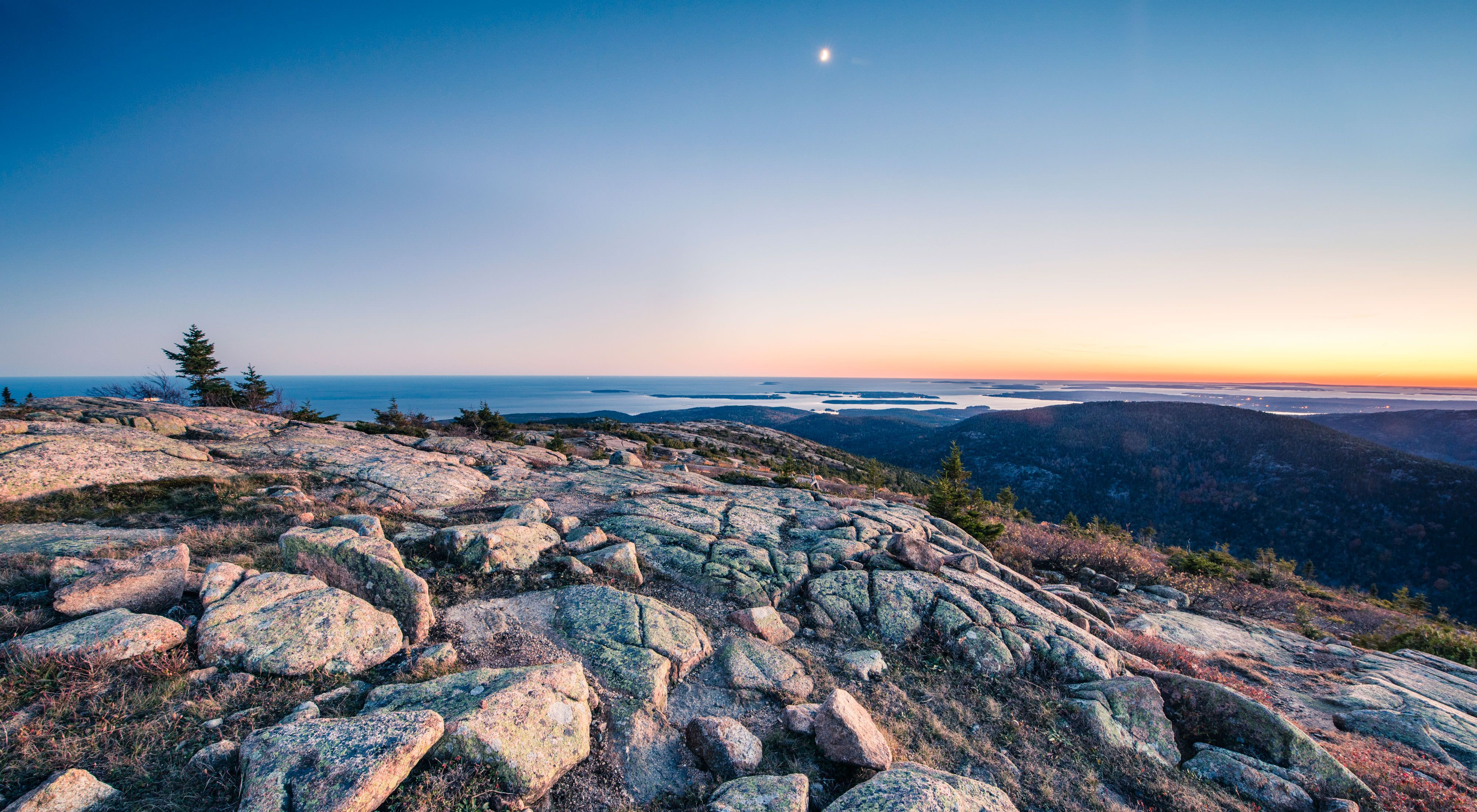 Sunset from the top of Cadillac Mountain