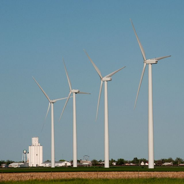 Wind facility in Kansas.