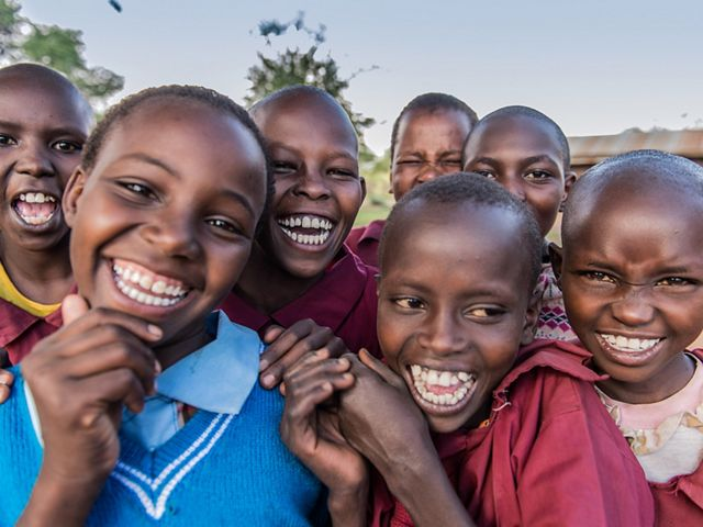 Girls at Ewaso Primary School in Ewaso, Laikipia County, Northern Kenya.