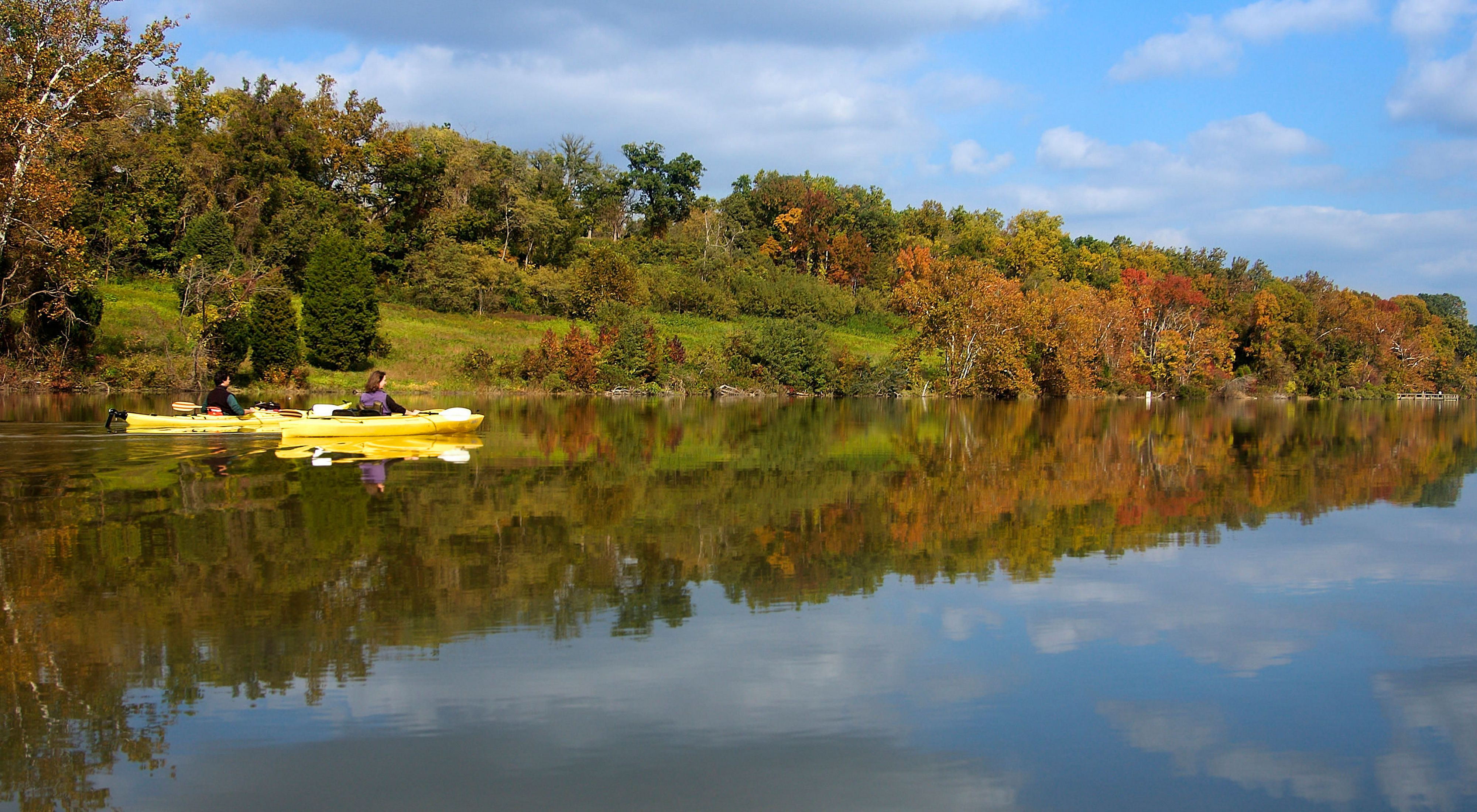 Kayakers enjoy a fall day on Nanjemoy Creek.