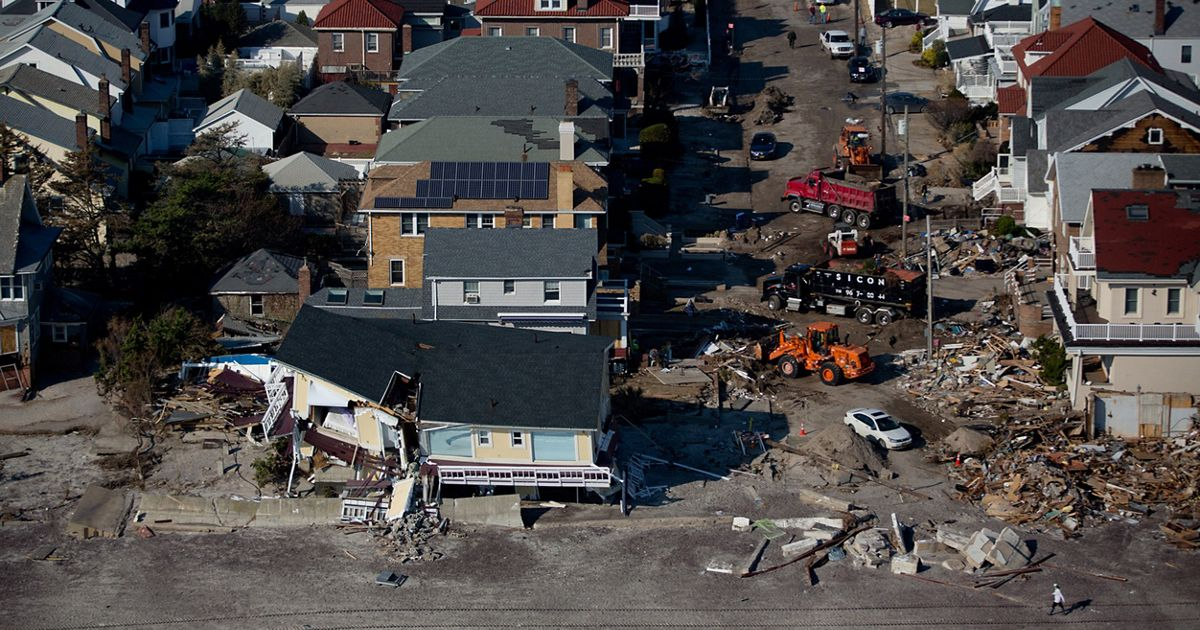 Aerials of destruction caused by Hurricane Sandy