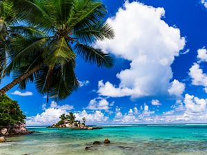 in Mahé Island, Seychelles. With some of the most iconic beaches, tourism is one of the primary industries driving the Seychelles's economy.