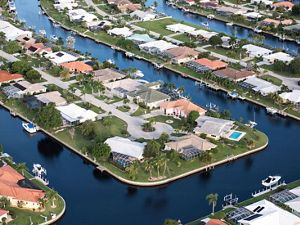Punta Gorda, Florida aerial view.
