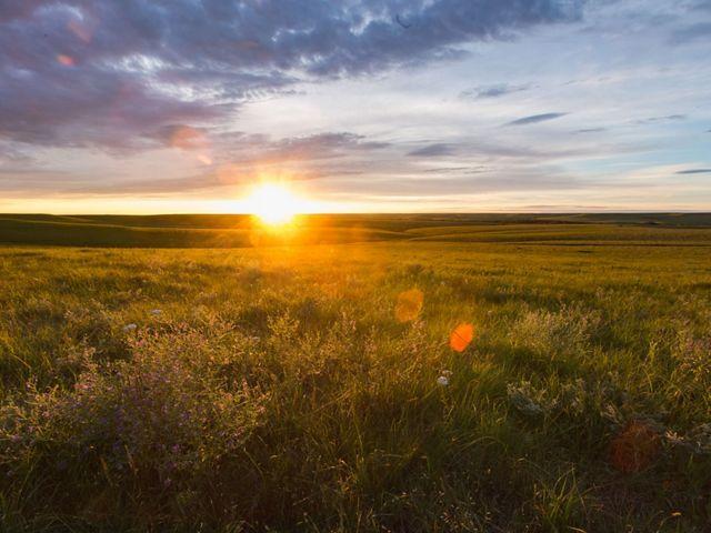 Sunsetting over tallgrass prairie