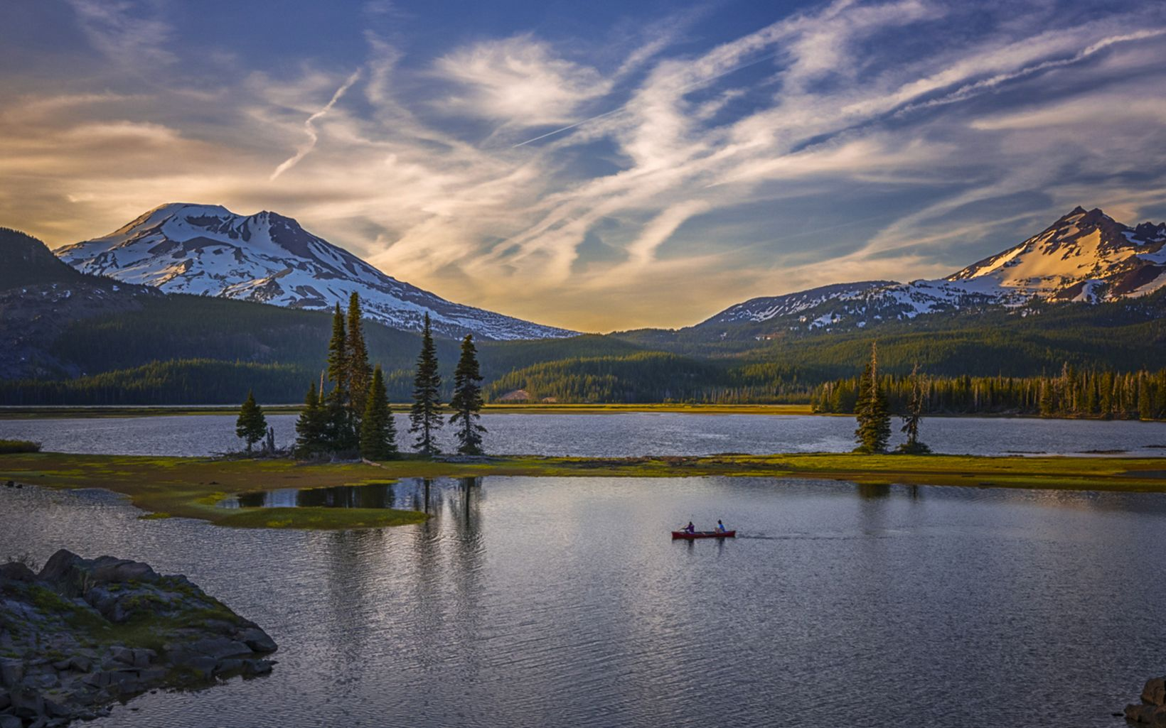 Along the beautiful Cascade Lakes Scenic Byway