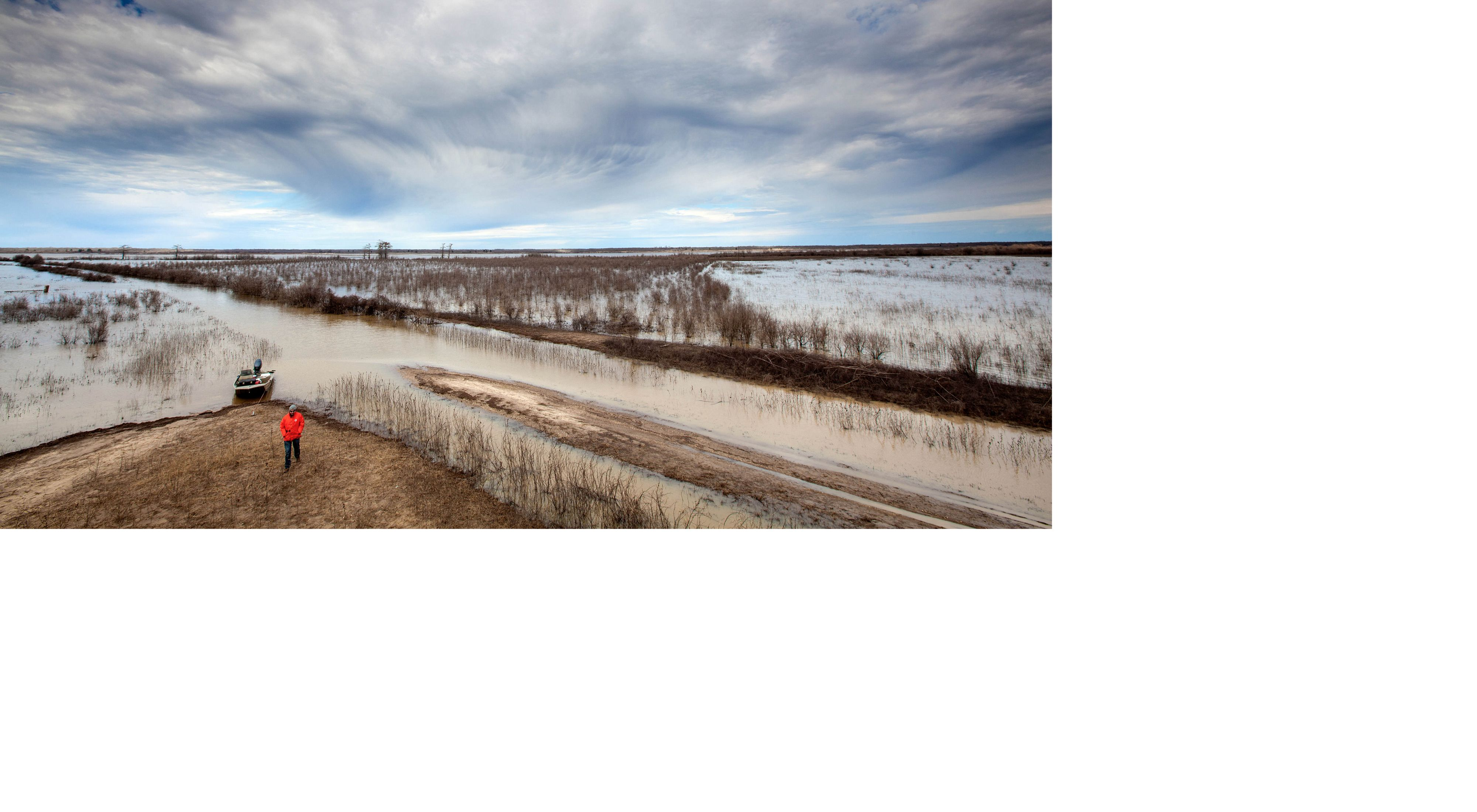 Aerial view of Mollicy Floodplain