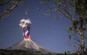 Volcano erupting in Mexico