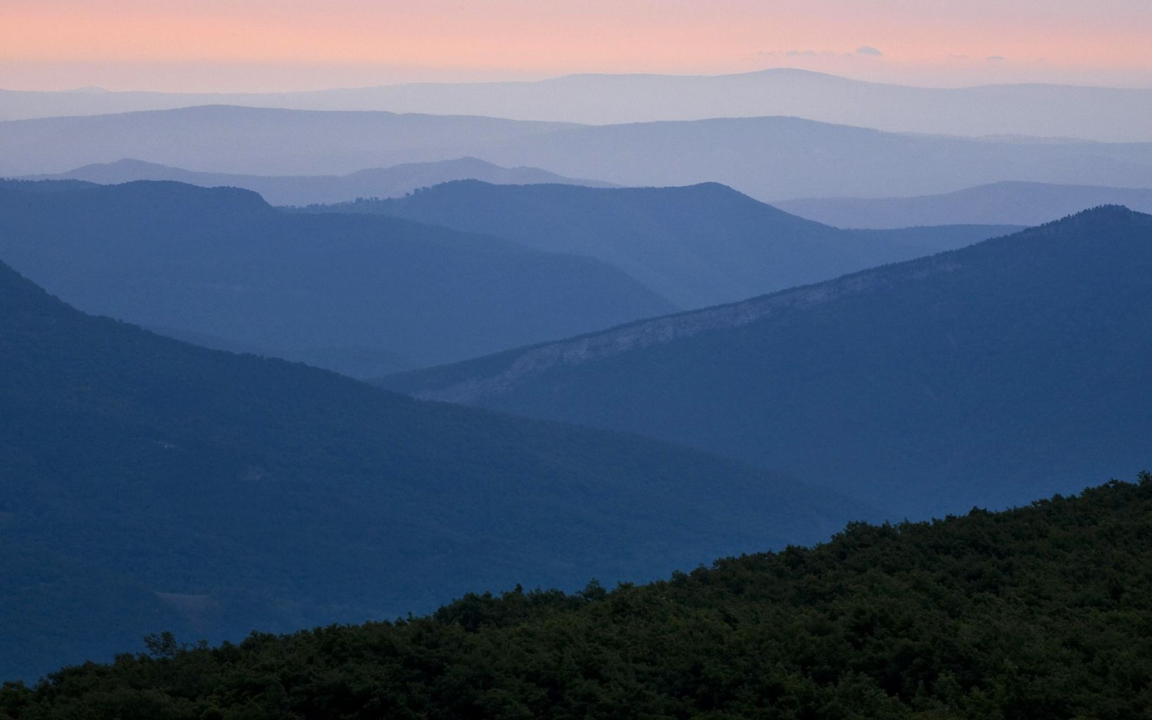 Dawn high above Canaan Valley, in the Dolly Sods Wilderness, West Virginia.