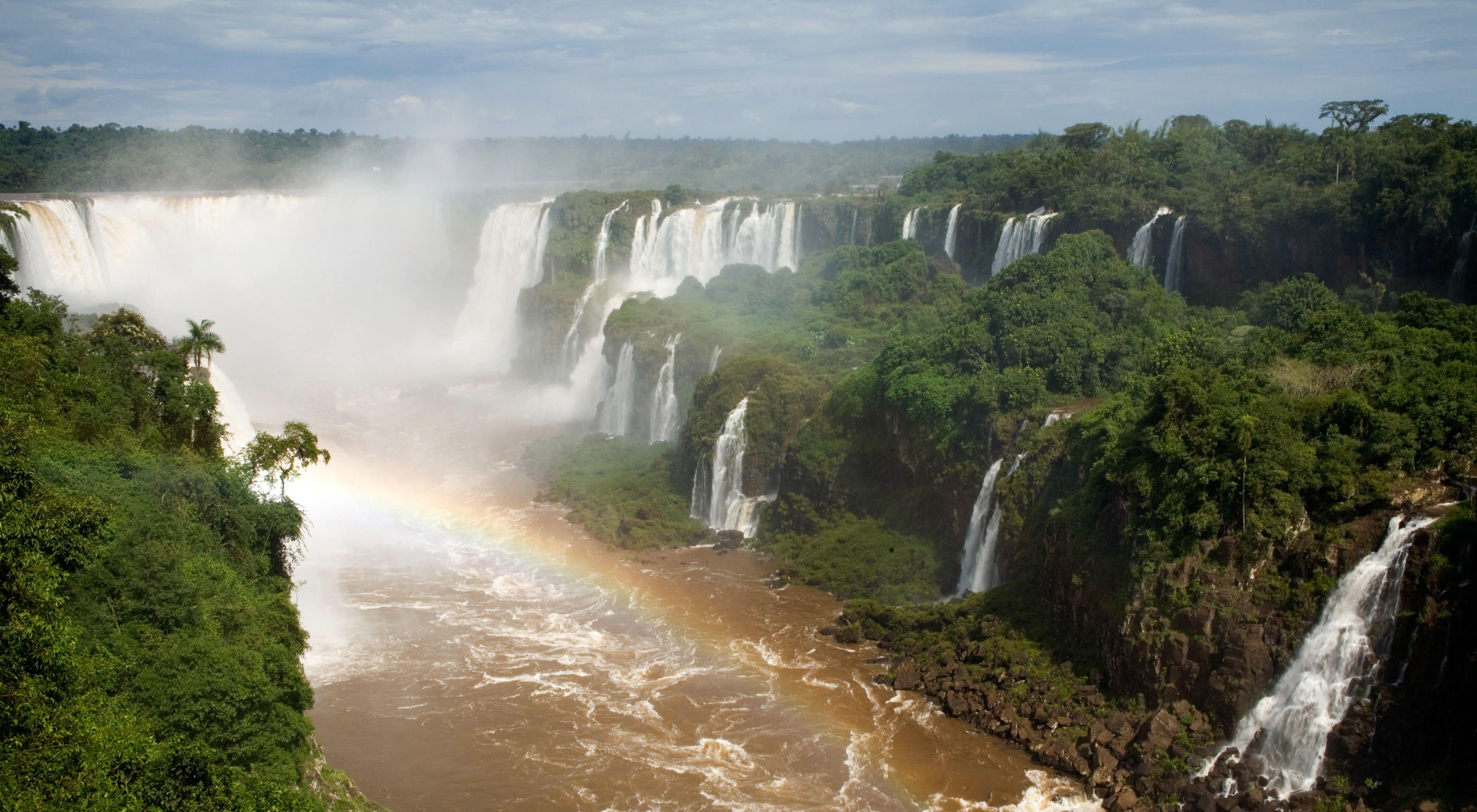 Waterfalls at Iguaçu National Park, Brazil.