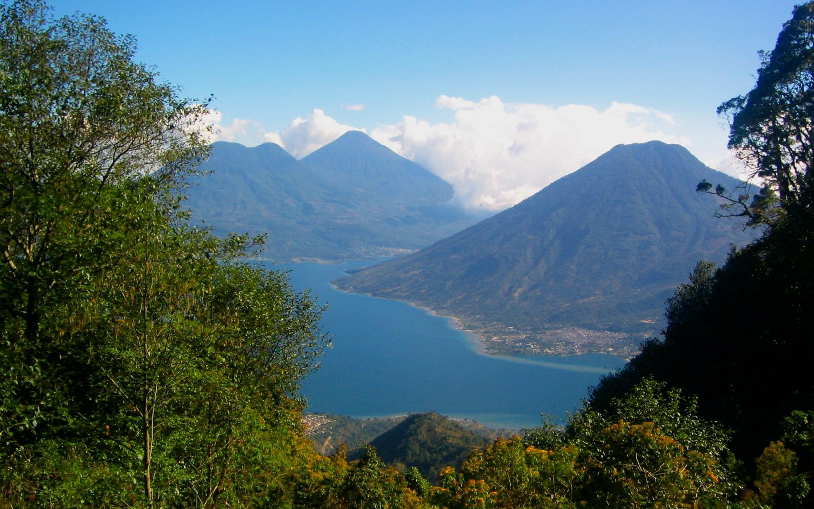 are ringed with volcanic mountains in the highlands of Guatemala, Central America.