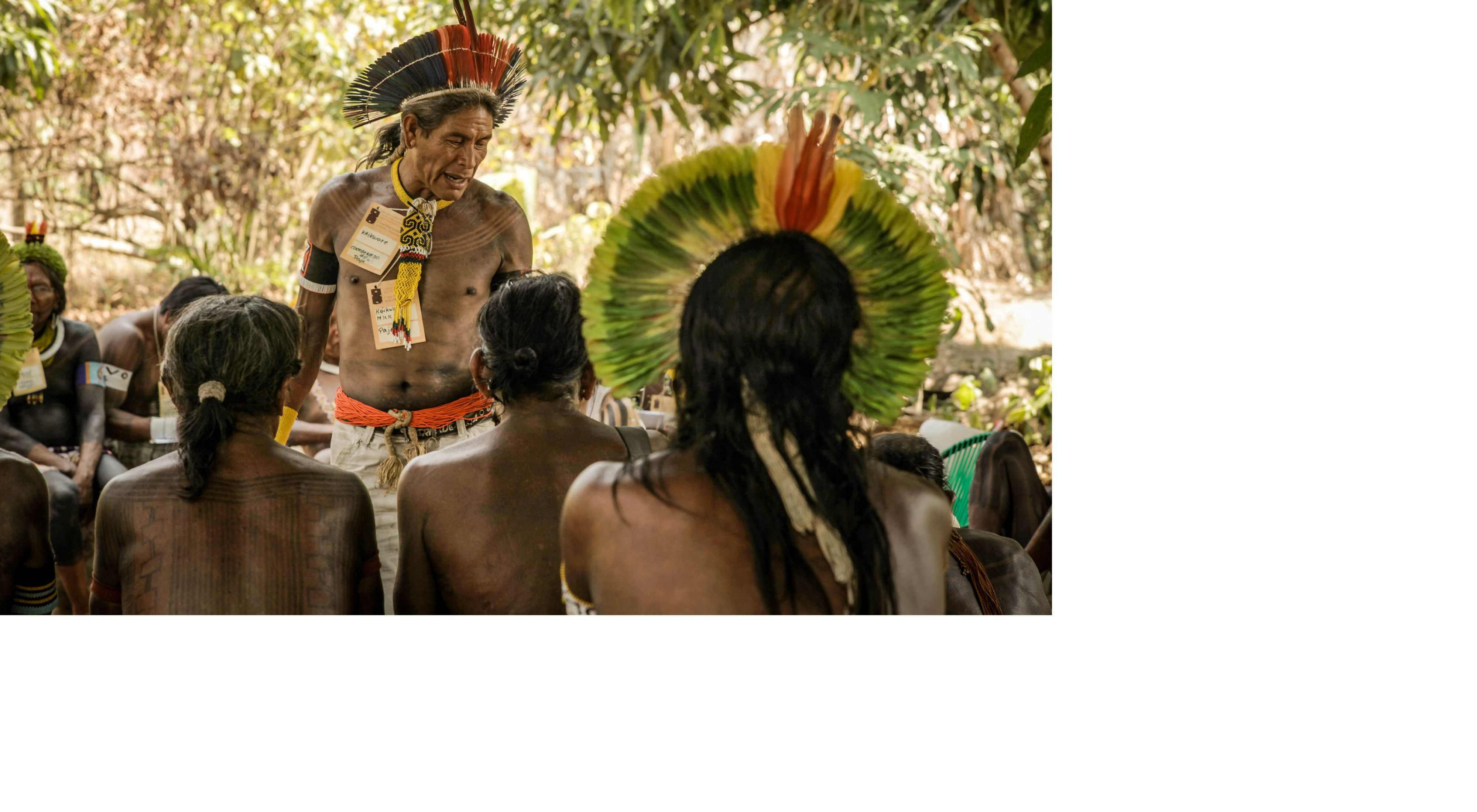 Indigenous People at the Kokraimoro village, in São Félix do Xingu, on the Brazilian Amazon.