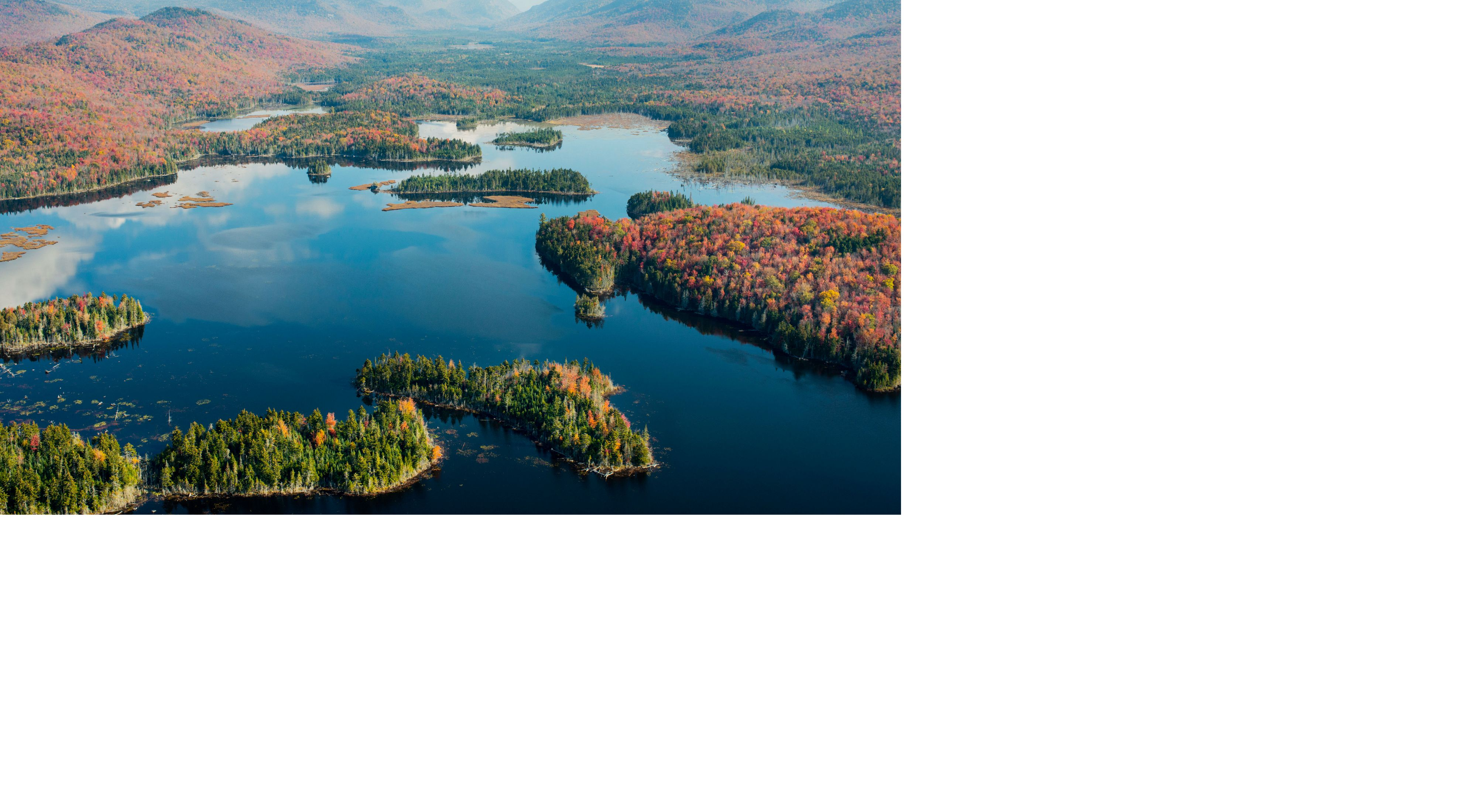 Aerial view of Boreas Pond, New York.