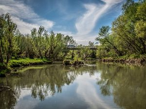 The Verde River, an important river in the Colorado River system.