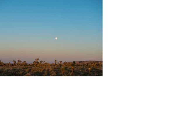 A full moon rising over one of the mitigation properties in Lancaster, California.