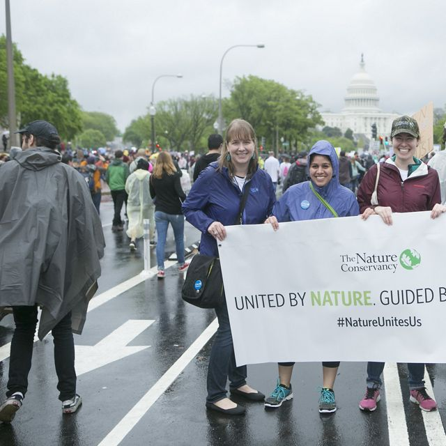 The Nature Conservancy participates in the Earth Day March for Science on the National Mall in Washington, DC, April 22, 2017.