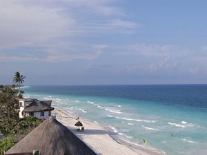 Along the Caribbean coast of Tulum just north of the Sian Ka'an Biosphere Reserve in Quintana Roo, Mexico.
