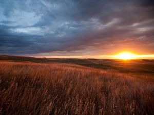 Sunset on the prairie