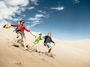 at the Great Sand Dunes National Park in Colorado.