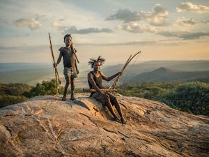 Hadza man looking across the landscape