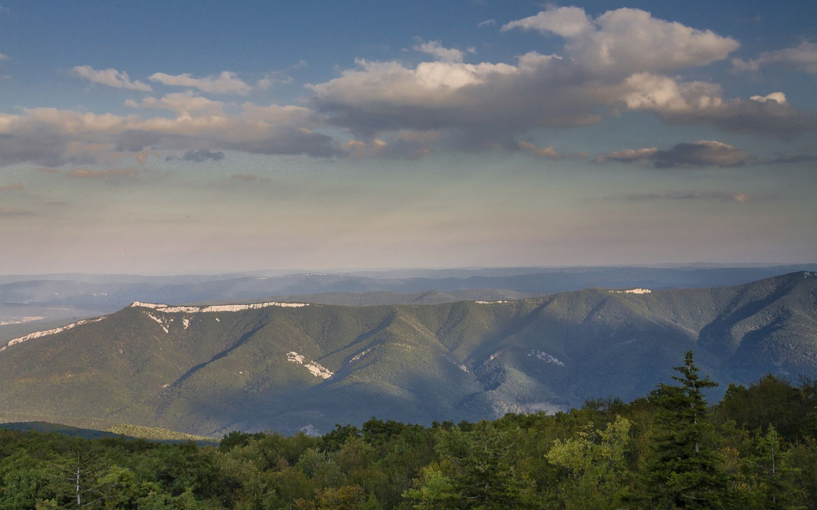 View of the  North Fork Mountain from the Allegheny Fro