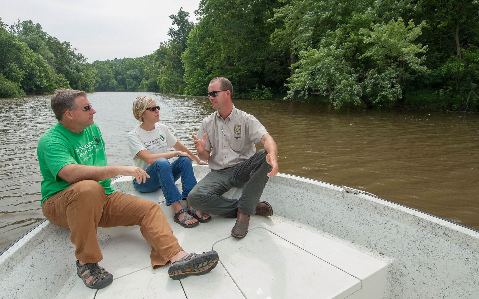 Partners explore the Tradewater River within Kentucky's Big River Corridor Project