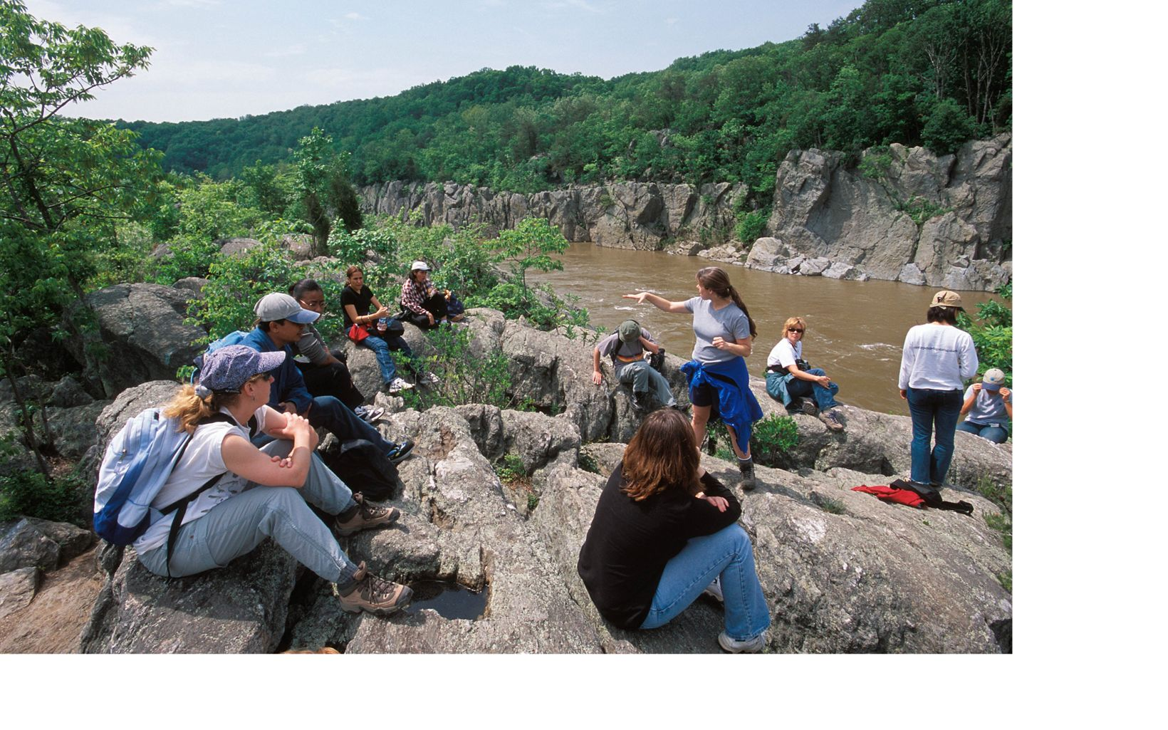 MD/DC staff enjoy an outing at the Potomac Gorge.